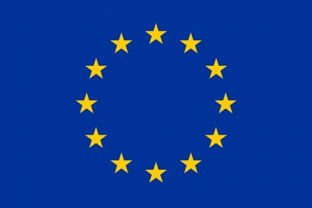 original and simple Europe flag  EU  isolated vector in official colors and Proportion Correctly