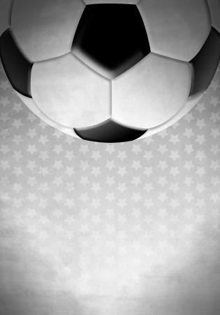 Soccer   football ball on a background with stars
