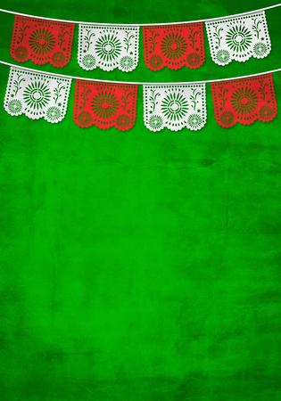 Photo pour Traditional Mexican paper decoration background with old paper texture - image libre de droit
