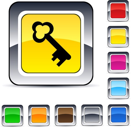 Key glossy square web buttons.