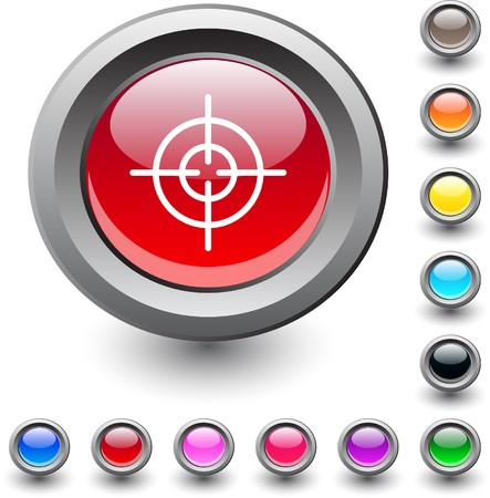 Sight  metallic vibrant round icon.