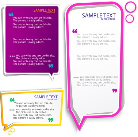 Colorful speech frames