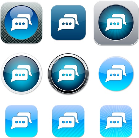 Chat Set of apps icons.