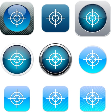 Sight Set of apps icons. Vector illustration.