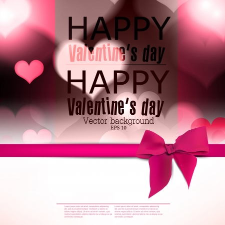 Elegant greeting card with hearts and copy space  Valentine
