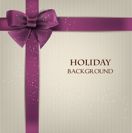 Elegant holiday background with bow and space for text.  illustration