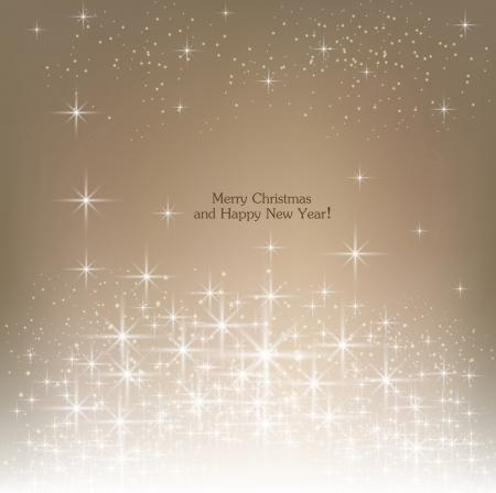 Illustration pour Beige beautiful Christmas background. - image libre de droit