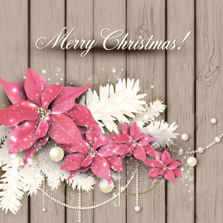 Illustration pour Elegant  background with Christmas garland. Vector illustration - image libre de droit