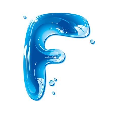ABC series - Water Liquid Letter - Capital F