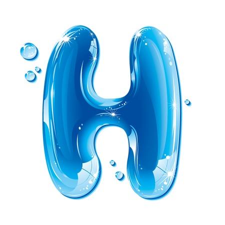 ABC series - Water Liquid Letter - Capital H