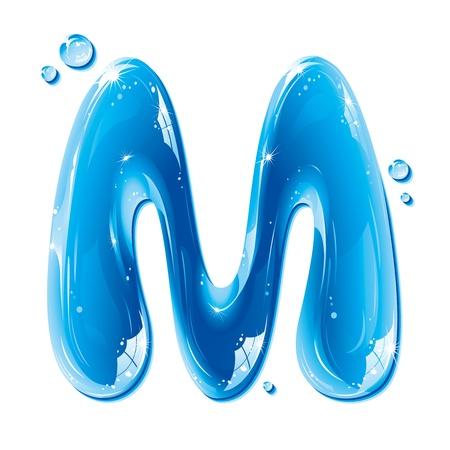 ABC series - Water Liquid Letter - Capital M