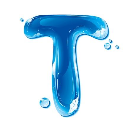 ABC series - Water Liquid Letter - Capital T