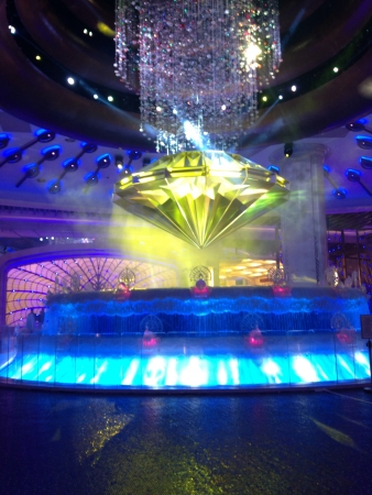 A vanishing diamond right at the hearth of galaxy hotel Macau