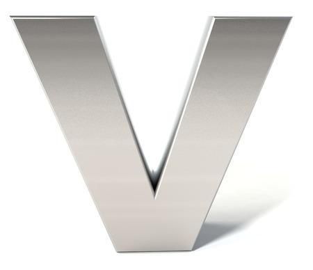 Chrome letter V