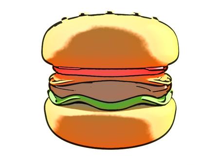 Cel shaded hamburger