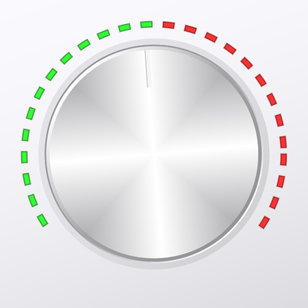 Metal volume knob. Vector illustration.