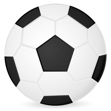 Soccer ball on a white background. Vector illustration.