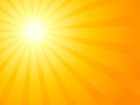 Illustration for Orange sky and dramatic sun.  - Royalty Free Image