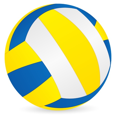 Volleyball ball on a white background. Vector illustration.