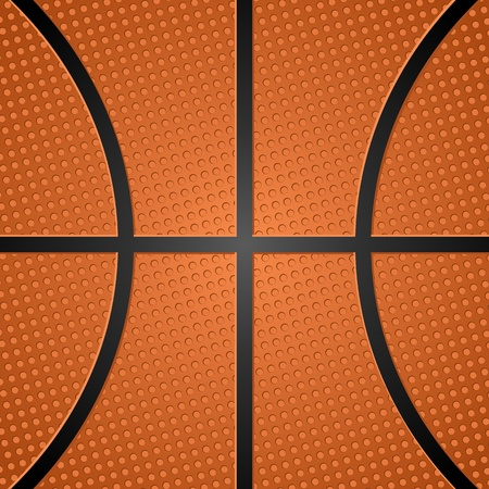 Basketball ball texture. Vector illustration.