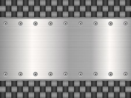 Pattern of metal texture background illustration