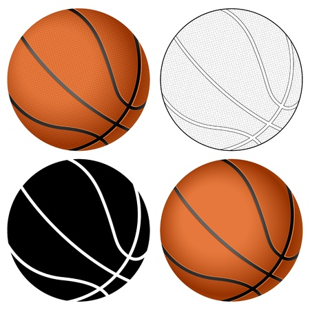 Basketball ball set isolated on a white background  Vector illustration