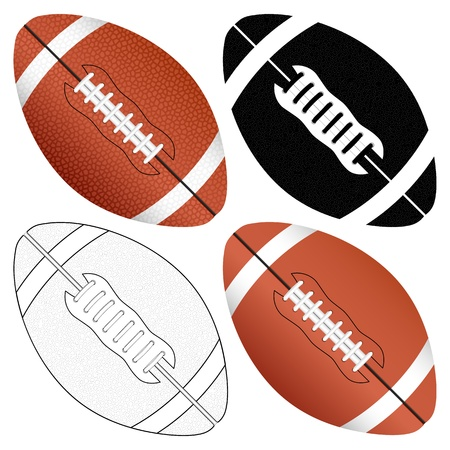 Football ball set isolated on a white background  Vector illustration