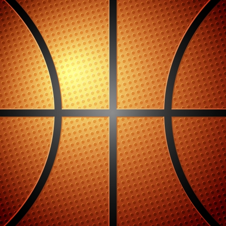 Basketball ball detail leather texture background.  illustration.