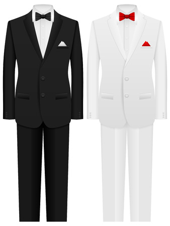 Men formal suit on a white background.