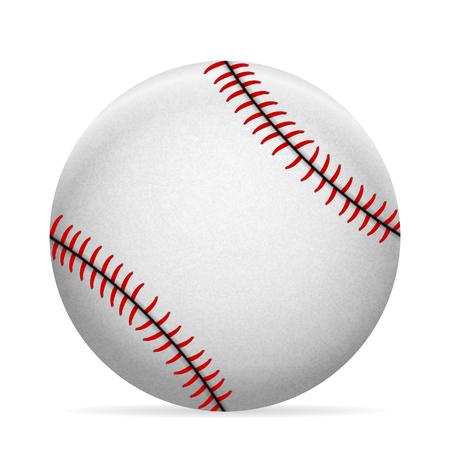 Baseball ball on a white background Vector illustration.