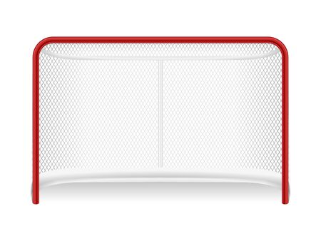 Illustration for Hockey goal on a white background. Vector illustration. - Royalty Free Image