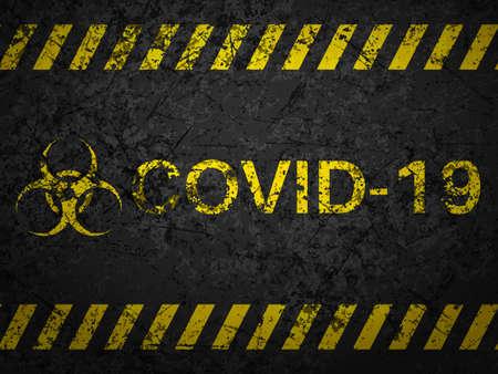 Illustration pour Grunge covid-19 textured background. Vector illustration. - image libre de droit