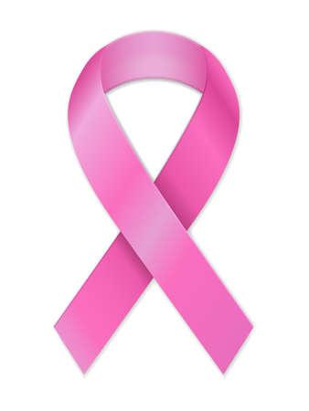 Illustration pour Breast cancer ribbon on a white background. Vector illustration. - image libre de droit