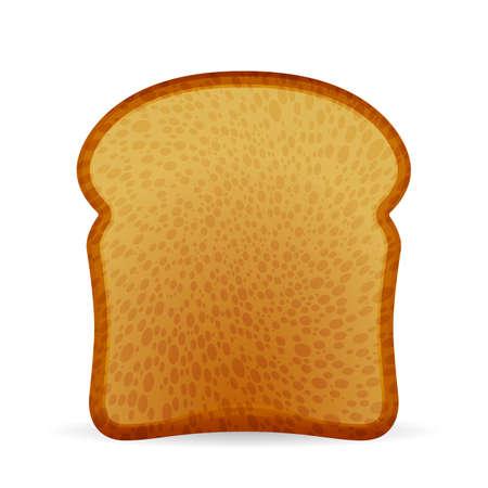 Illustration pour Bread toast on a white background. Vector illustration. - image libre de droit