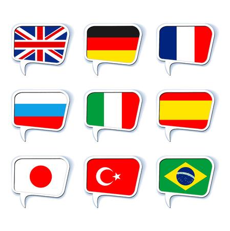 Illustration pour Speech bubbles. Languages - image libre de droit