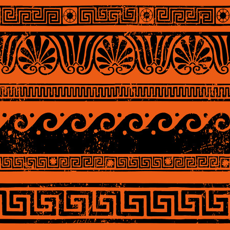 Ancient Greek border ornaments, meanders