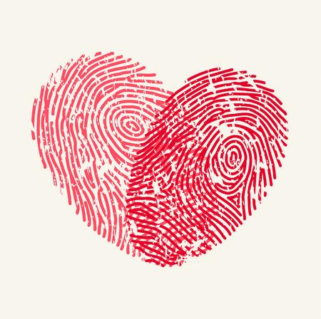 Fingerprint Love Heart