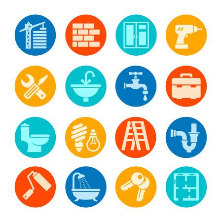 Home repair web icon set