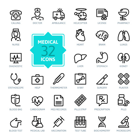 Outline web icon set - Medicine and Health symbols