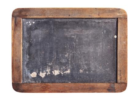 Grunge slate board isolated on white background
