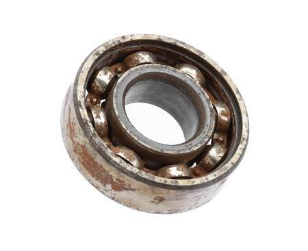 Photo pour Rusty ball bearing isolated on white background - image libre de droit
