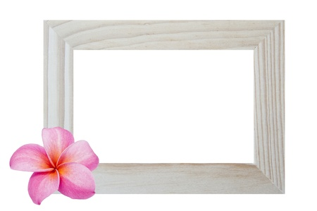 Window frame isolated on white background with flower