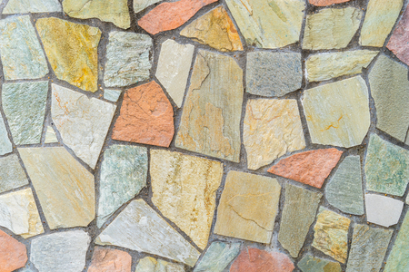 Foto de Stone tile floor block wall for texture background - Imagen libre de derechos
