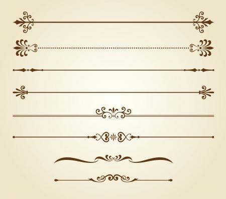 illustration of decorative borders set