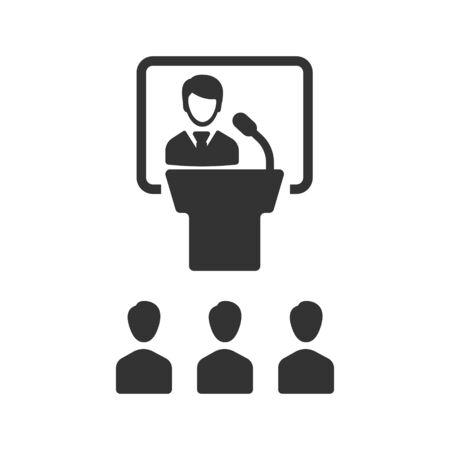 Illustration pour Conference Icon, Business meeting, teamwork icon - image libre de droit