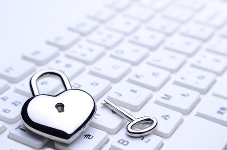 heart-shaped key