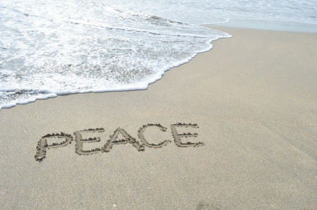 PEACE on beach