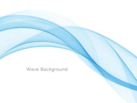 Illustration pour Blue wave concept background illustration vector - image libre de droit