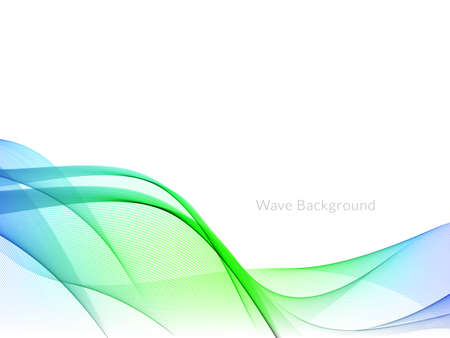 Illustration pour Smooth stylish colorful wave background vector - image libre de droit