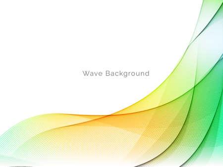 Illustration pour Decorative background with colorful wave design vector - image libre de droit